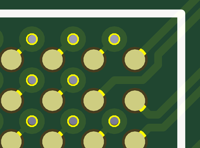 Remove soldermask on Vias - Layout - KiCad info Forums